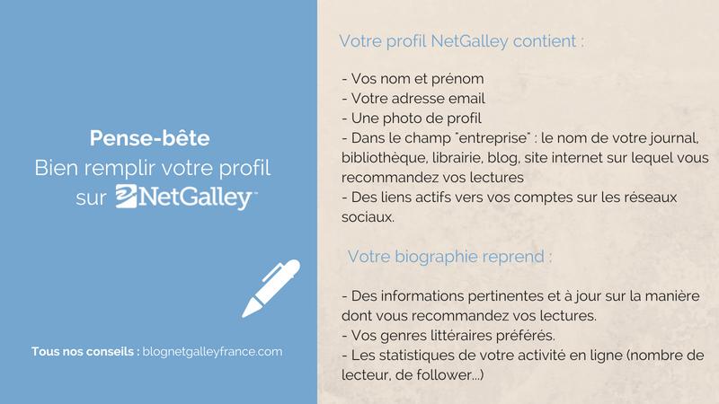 Pense bête profil NetGalley