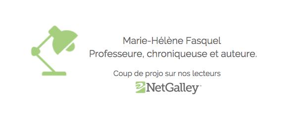 Coup de projo sur nos lecteurs #55 – Marie-Hélène, professeure, chroniqueuse etauteure.